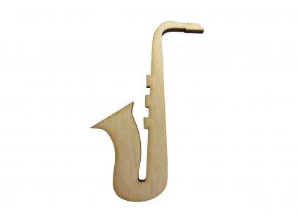 Dřevěný saxofon 7 x 4 cm