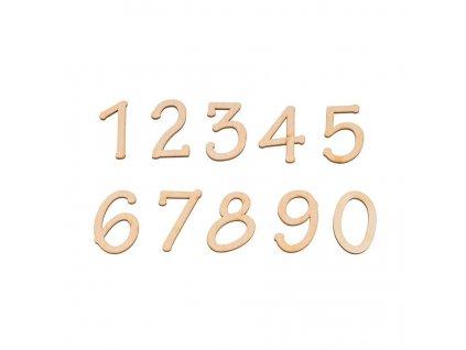 Dřevěná libovolná číslice II