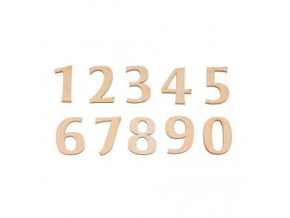 Dřevěná libovolná číslice III
