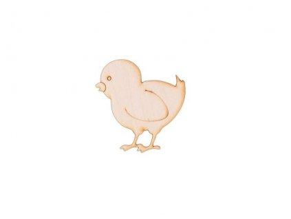 Dřevěné kuřátko 6,5 x 6 cm