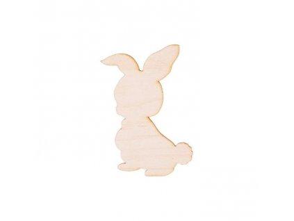 Dřevěný králíček 10,5 x 7 cm