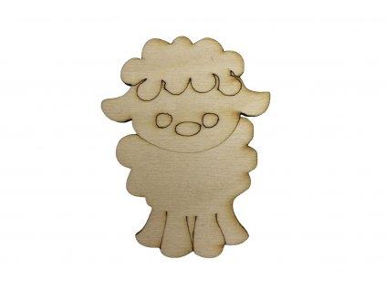 Dřevěná ovečka II 7 x 5 cm