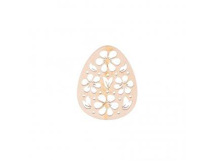 Dřevěné zdobené vajíčko IV 10 x 8 cm