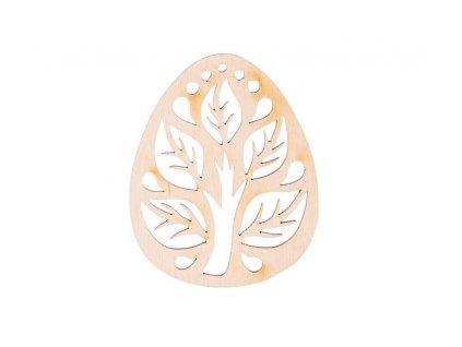 Dřevěné zdobené vajíčko VI 10 x 8 cm