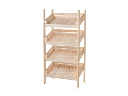 Regál dřevěný r4oz 150 x 74 x 46 cm
