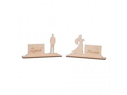 Dřevěné svatební jmenovky II