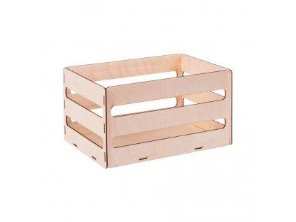 Dřevěný box z překližky III 31X20X16.5 CM