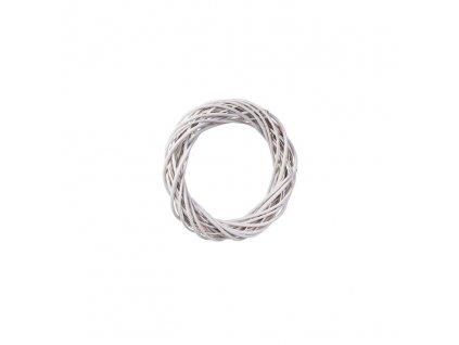 Proutěný věnec bílý 26 cm