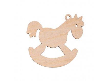 Dřevěná vánoční ozdoba - koník