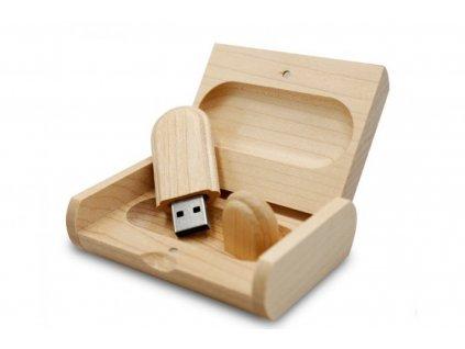 Dřevěný USB disk 16GB s vlastním věnováním