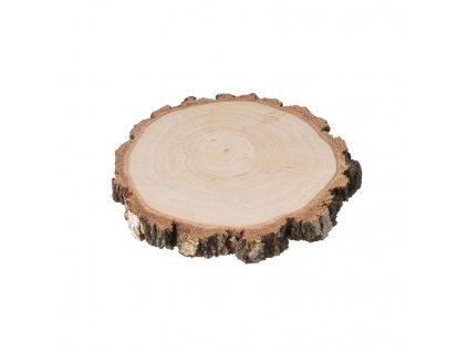 Dřevěná podložka z kmene břízy s kůrou 8-10 cm