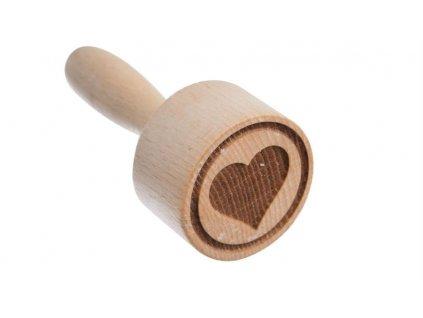 Dřevěné razítko na těsto - srdce