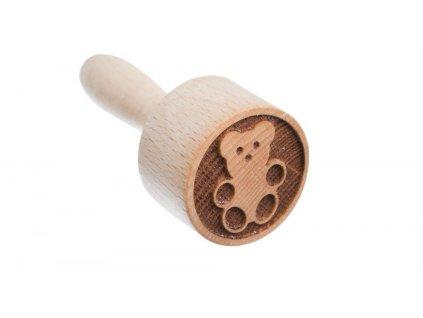 Dřevěné razítko na těsto - medvěd