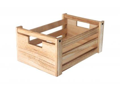 Dřevěná bedýnka natural 31x21x14 cm