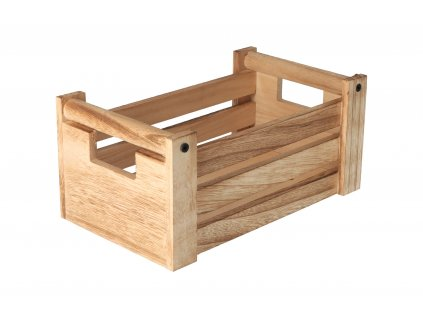 Dřevěná bedýnka natural 26x16x12 cm