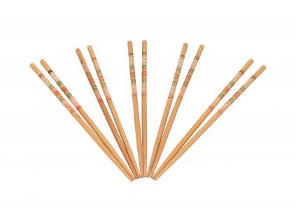 Dřevěné jídelní hůlky na sushi - 5 párů