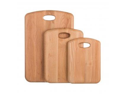 Sada dřevěných prkének premium 3ks