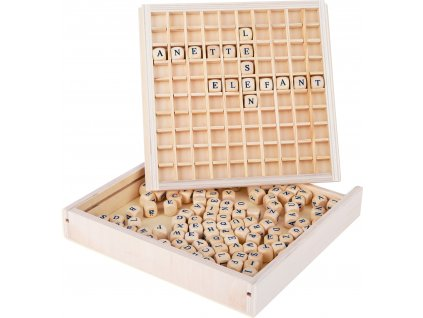 Dřevěná hra Scrabble