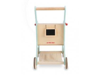 Nákupní dřevěný košík