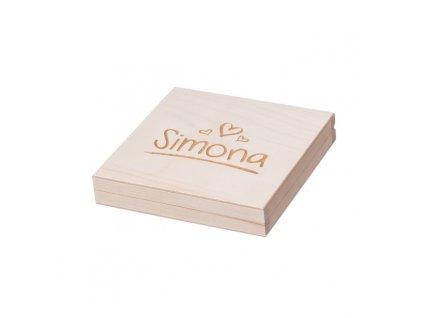 Dárková dřevěná krabička III