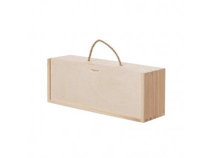 Dřevěná krabička na láhev nebo medy