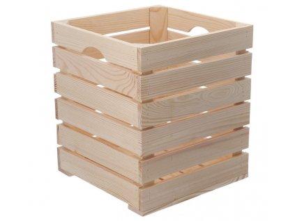 Dřevěná bedýnka 30 x 30 x 35 cm