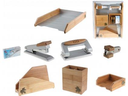Dřevěná kancelářská sada