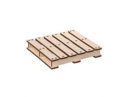 Dřevěná paleta pod hrnek