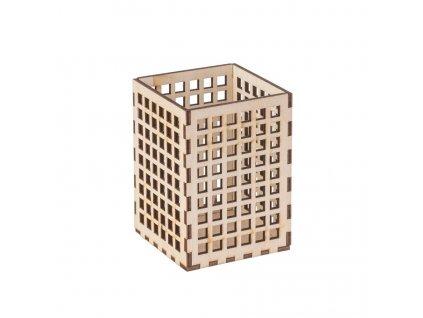 Dřevěný stojan na psací potřeby I