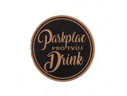 Korkový podtácek - parkplac pro tvůj drink