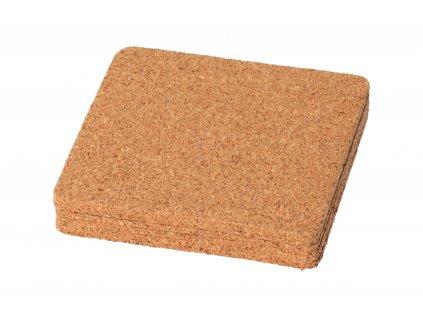 Korkový podtácek čtvercový 9.5x9.5 cm - 6 ks