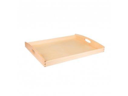 Dřevěný servírovací tác 50x40cm světlý