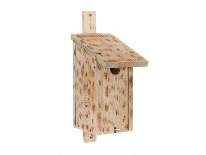 Dřevěná ptačí budka jedle