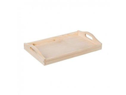 Dřevěný servírovací tác 40x25 cm