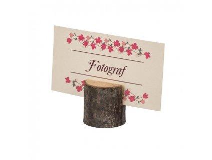 Dřevěný stojan na jmenovku