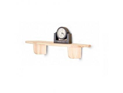 Dřevěná nástěnná police 60 cm