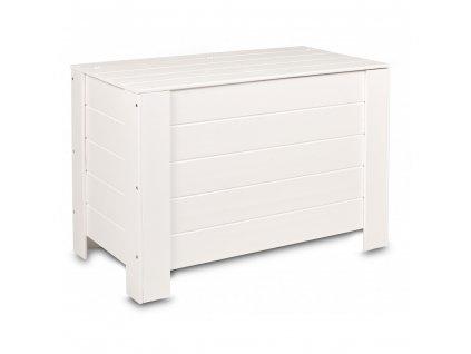 Dřevěná truhla 77 x 40 x 50 cm - bílá