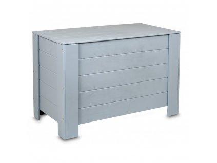 Dřevěná truhla 77 x 40 x 50 cm - šedá