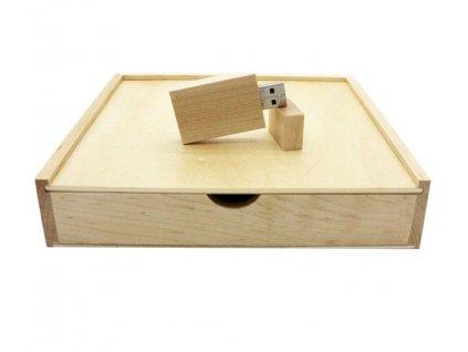 Krabička na fotografie a USB - světlá