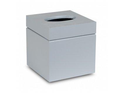 Šedá krabička na kapesníky - čtverec
