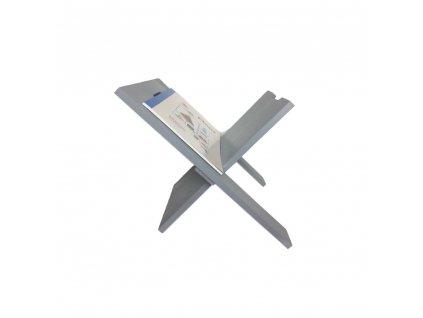 Dřevěný stojan na noviny - šedý