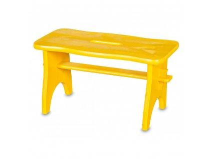 Dřevěná stolička - žlutá