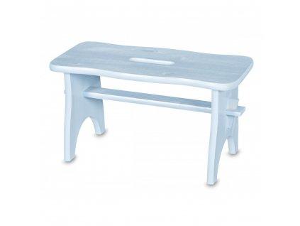 Dřevěná stolička - světle modrá