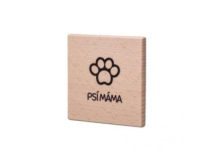 Dřevěný podtácek - Psí máma