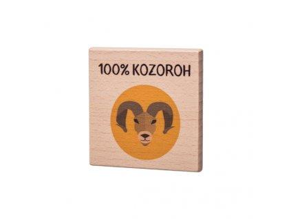 Dřevěný podtácek - 100% Kozoroh