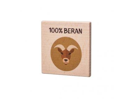 Dřevěný podtácek - 100% Beran