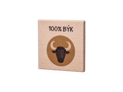 Dřevěný podtácek - 100% Býk