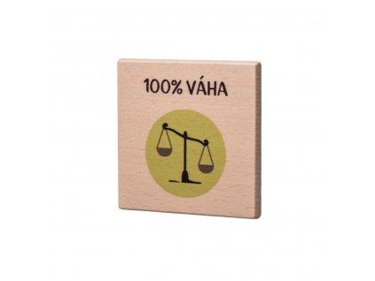 Dřevěný podtácek - 100% Váha