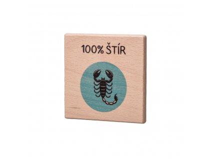 Dřevěný podtácek - 100% Štír