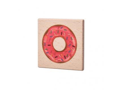 Dřevěný podtácek - Donut